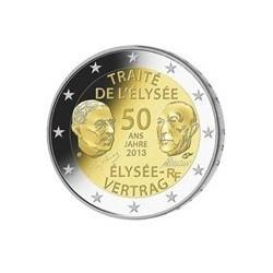 """2 Euro herdenkingsmunt Frankrijk 2013 """"Elysée verdrag"""" (UNC)"""