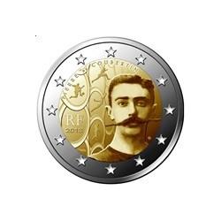 """2 Euro herdenkingsmunt Frankrijk 2013 """"150 jaar Pierre de Coubertin"""" (UNC)"""
