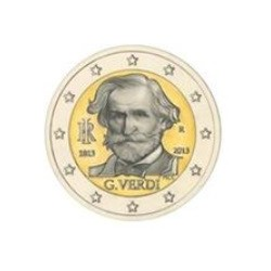 "2 Euro herdenkingsmunt Italië 2013 ""200e verjaardag Guiseppe Verdi"" (UNC)"