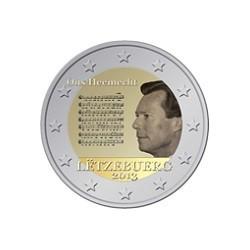 """2 Euro herdenkingsmunt Luxemburg 2013 """"Volkslied van Groothertogdom Luxemburg """" (UNC)"""