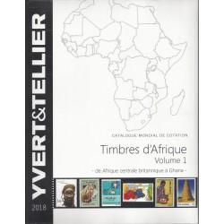 Yvert & Tellier postzegelcatalogus overzee Afrika volume 1 (Centraal Brits Afrika – Ghana)