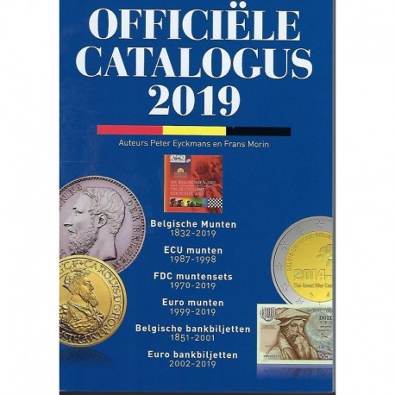 Officiële catalogus der Belgische munten Morin editie 2019 nederlandstalig