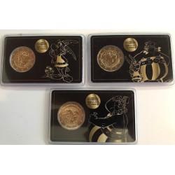 """2 Euro herdenkingsmunt Frankrijk 2019 """"Asterix"""" set van 3 coincards"""