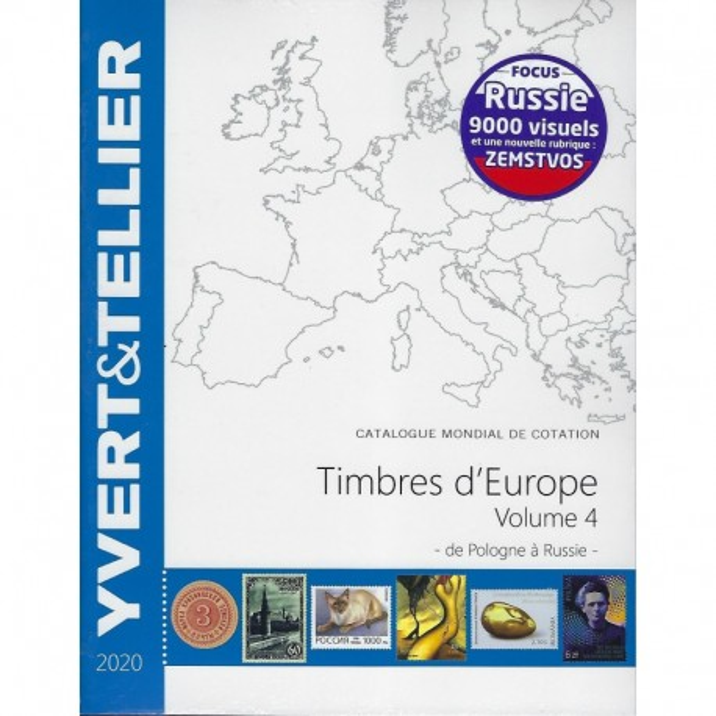Yvert & Tellier postzegelcatalogus van Europa deel 4 (Pologne-Russie) (tome Europa 4)