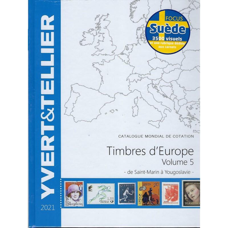 Yvert & Tellier postzegelcatalogus van Europa deel 5 (Saint Marin - Yougoslavie) (tome Europa 5)