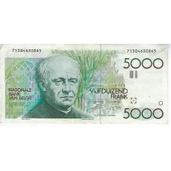 Bankbiljet België 5000 frank Guido Gezelle